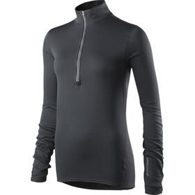 Houdini W's Phantom Zip Shirt Trueblack/Trueblack